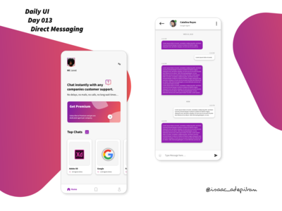 Direct Messaging App - 013 Daily UI Challenge