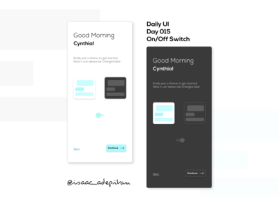 On/Off Switch - 015 Daily UI Challenge