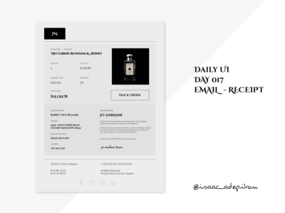 Email Receipt - 017 Daily UI Challenge