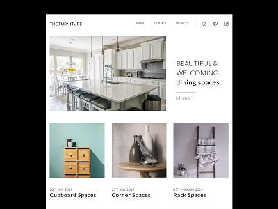 The Furniture photoshop single page website furniture shop furniture app ps adobe furniture design ui