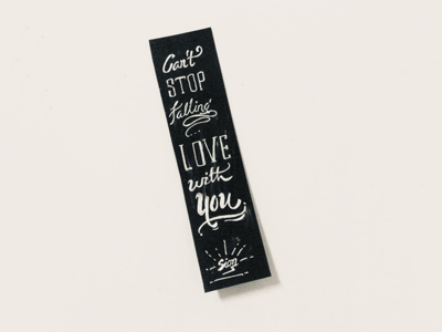 Can not Stop Falling Love With You lettering4u falling custom-lettering love hand-lettering typography siontypography