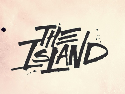 The Island play theatre design type typography lettering calligraphy ruling pen logo brand