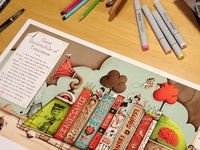 Giant Bookmobile of Tomorrow LE Giclee Print