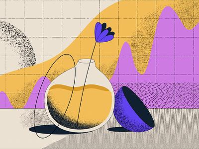 Vase vector illustrator motion graphics illustration