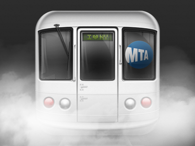 InTransit iPhone app icon for NYC Subway riders apple iphone ios android icon mobile photoshop nyc subway blackberry