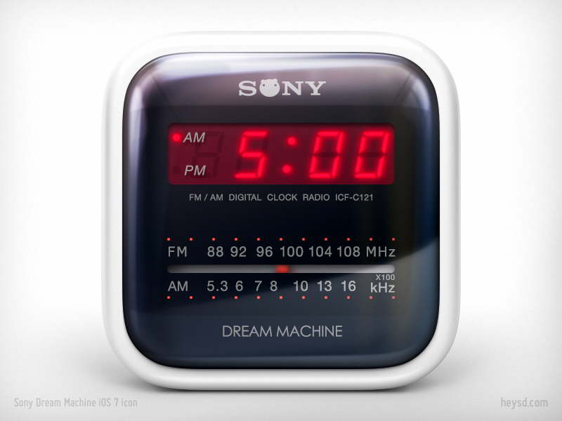 Sony Dream Machine icon icon david im photoshop ios apple iphone heysd sony dream machine clock radio dont steal