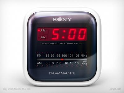 Sony Dream Machine icon icon david im photoshop ios apple iphone heysd sony dream machine clock radio dont steal