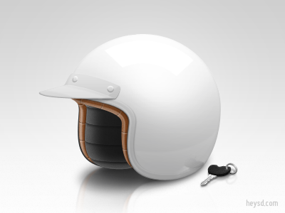 Scooter Helmet vespa helmet white icon photoshop heysd david im