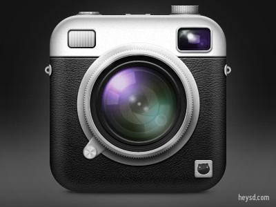 Retro Camera icon icon photoshop david im apple heysd ios iphone hd retina iphone 4 camera retro leather