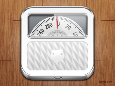 Analog Weight Scale icon analog chrome icon photoshop david im apple heysd ios iphone hd retina iphone 4 weight scale diet weight management