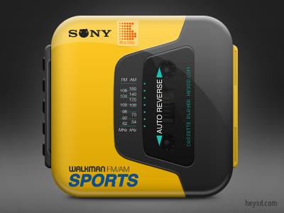 Sony Walkman Sports icon apple icon ios iphone mobile photoshop retina hd david im sony walkman sports
