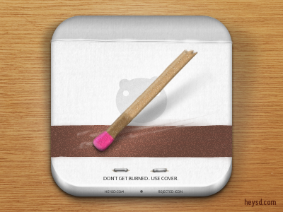 Matchbook icon icon photoshop david im apple heysd ios iphone hd retina iphone 4 matchstick matchbook