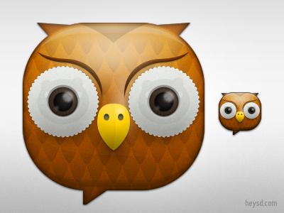 Owl icon google android icon mobile photoshop heysd david im owl