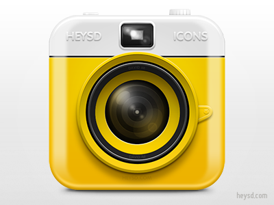 Plastic Camera icon apple icon ios iphone iphone 4 photoshop retina hd heysd david im camera plastic yellow