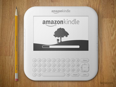Amazon Kindle icon icon photoshop david im apple heysd ios iphone hd retina iphone 4 amazon kindle white