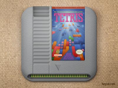 Nintendo Tetris icon apple icon ios iphone iphone 4 photoshop phone retina hd heysd david im nintendo cartridge tetris