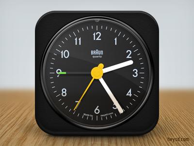 Braun AB1 Clock icon apple icon ios iphone iphone 4 photoshop phone retina hd heysd david im braun ab1 clock