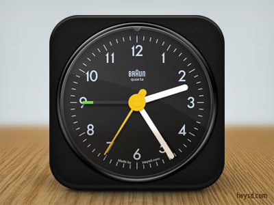 Braun AB1 Clock icon apple icon ios iphone iphone 4 photoshop phone retina hd heysd david im braun ab1 clock