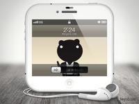White iPhone 4 icon