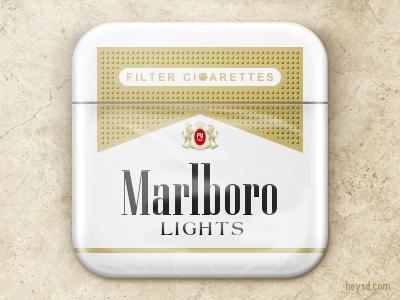 Marlboro Lights icon by David Im on Dribbble