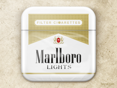 Marlboro Lights icon apple icon ios iphone iphone 4 photoshop phone retina hd heysd david im marlboro lights marlboro gold cigarette