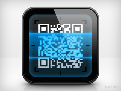 QR Code icon apple icon ios iphone iphone 4 photoshop phone retina hd heysd david im qr code