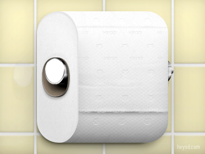 Toilet Paper Icon icon photoshop david im apple ios iphone hd retina iphone 4 toilet paper white brainstorm