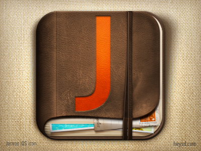 Jarvus icon photo www.jarvus.com icon photoshop david im apple ios iphone hd retina iphone 4 leather journal memories connect jarvus