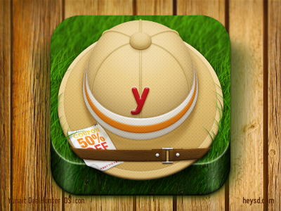Yunait DealHunter Icon icon photoshop david im apple ios iphone hd retina iphone 4 grass hat yunait yunait deal hunter deals