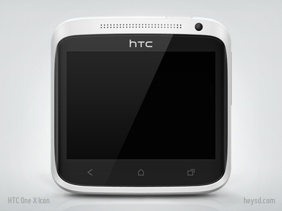 HTC One X Icon icon photoshop david im htc htc one x android heysd phone white mobile