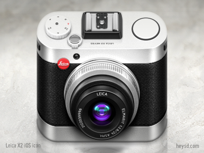 Leica X2 iOS Camera icon icon photoshop david im apple ios iphone hd retina iphone 4 texture camera leica x2