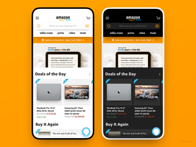 Amazon App Redesign Concept iphone david im heysd white clean ux ui ios interface ecommerce dark mode concept app amazon