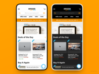 Amazon App Redesign Concept iphone david im heysd white clean ux ui ios interface ecommerce dark mode concept app amazon