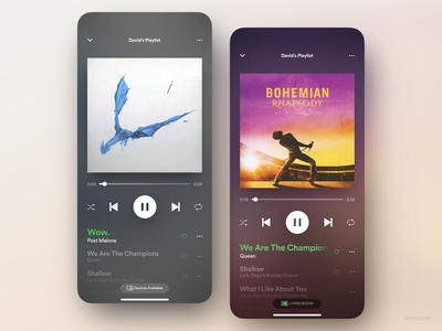 Spotify App Redesign Concept black ux ui pack iphone ios interface heysd player music david im dark mode concept app spotify