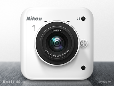 Nikon 1 J1 iOS Camera icon icon photoshop david im apple ios hd iphone retina iphone 4 camera nikon nikon 1 j1 white dont steal heysd