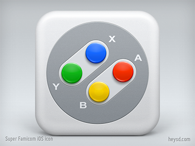 Super Famicom Joypad iOS icon joypad icon ios iphone iphone 4 retina hd apple nintendo super famicom super nintendo snes dont steal heysd david im