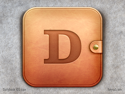 Dailybook iOS icon icon david im apple ios hd iphone retina heysd iphone 4 dailybook leather journal ideablocks.com
