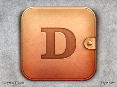 Dailybook iOS icon icon david im apple ios hd iphone retina heysd iphone 4 dailybook leather journal ideablocks.com