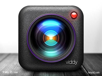 Viddy iOS icon icon david im photoshop apple ios hd iphone retina iphone 4 camera video viddy texture remake unused