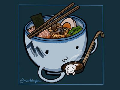 Carnivorous Foods Series - Afuri Ramen afuri seal japan ramen procreate food illustration