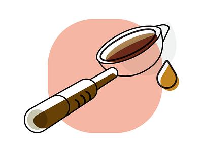 WIP Portafilter Illustration minimal simple portafilter espresso coffee illustration