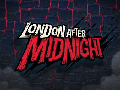 London after Midnight - Logo/Lettering icon typography illustration design lettering