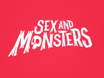 Sex & Monsters - Lettering/Logo graphic design vector brand logo lettering