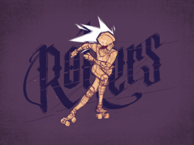 Rollers illustration sketch concept calligraphy