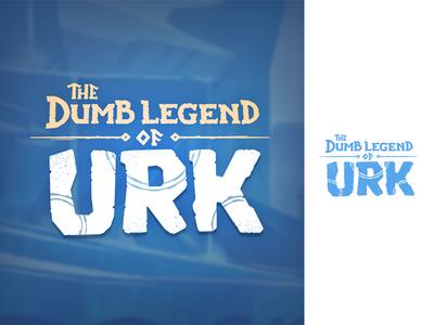 The Dumb Legend of Urk - Lettering animation brand logo design lettering