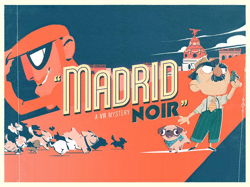 Madrid Noir - Logo virtual reality vr brand animation vector logo design