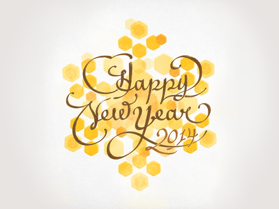 Greeting Card - New Year's Eve title calligraphy brand branding design lettering