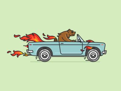 Bear in fire 1