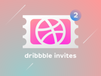 2 Dribbble Invites giveaway invite giveaway invite invitation dribbbleinvite dribbble draft draft day