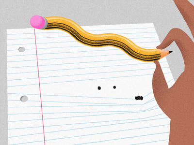 Idle hands hand wobble loop wiggle pencil process magic inspiration boredom lined paper illusion procreate